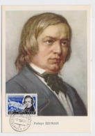 CARTE MAXIMUM CM Card USSR RUSSIA Music Composer Schumann Germany - 1923-1991 URSS