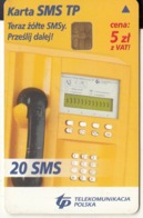 POLAND(chip) - TP Cardphone, TP Telecard 20 Sms(glossy Surface), Chip Siemens 35, Exp.date 01/07/06, Used - Telefoni
