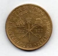 BRAZIL, 1000 Reis, 1922, Aluminum - Bronze, KM #522.2 - BBASIL Au Lieu De BRASIL - Brasilien