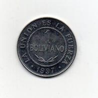 Bolivia - 1997 - 1 Bolivianos - Vedi Foto - (MW2647) - Bolivia