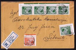 Yugoslavia Croatia Primosten 31 III 1941 / Registered Letter / King Peter II, 1 Din - 1931-1941 Königreich Jugoslawien