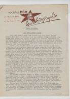 """Courrier De La MGM - """"  Les Vedettes"""" - Biographies Les Marx Brothers - Werbetrailer"""