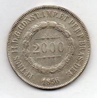 BRAZIL, 2000 Reis, 1856, Silver, KM #466 - Brazil