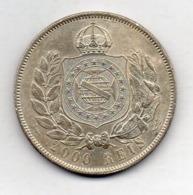 BRAZIL, 2000 Reis, 1869, Silver, KM #475 - Brazil