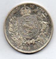 BRAZIL, 2000 Reis, 1888, Silver, KM #485 - Brasil