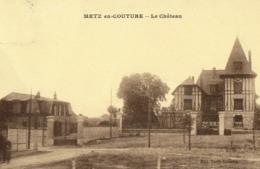 CPA DE METZ-EN-COUTURE  (PAS DE CALAIS)  LE CHÂTEAU - France
