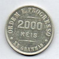 BRAZIL, 2000 Reis, 1907, Silver, KM #508 - Brazil