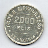 BRAZIL, 2000 Reis, 1907, Silver, KM #508 - Brasil