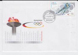 Germany Postal Stationary 2002 Salt Lake City Olympic Games - Used Frankfurt Am M (EB1-54) - Winter 2002: Salt Lake City