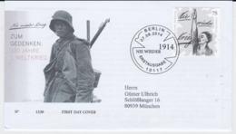 Germany FDC 2014 100 Jahre 1. Weltkrieg  (EB1-54) - Militaria