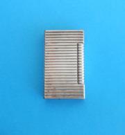 ST DUPONT Paris - Original Vintage Gas Lighter * Silver Plaque - Plaque Argent * Briquet Feuerzeug Accendino Encendedor - Dupont
