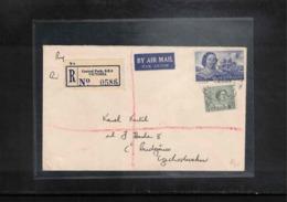 Australia 1966 Interesting Airmail Registered Letter - Storia Postale