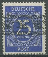 Bizone 1948 I. Kontrollratsausgabe Mit Bandaufdruck 61 I A Postfrisch Signiert - Bizone