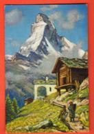 KAA-10  Matterhorn Mont Cervin Chapelle Sur Zermatt, Dessin De Portier. . CV-360.1 - VS Wallis