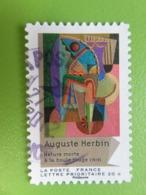 """Timbre France YT 706 AA - Art - Cubisme - """"Nature Morte à La Boule Rouge"""" D'Auguste Herbin - 2012 - Cachet Rond - France"""