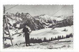 22651 - Château-d'Oëx Les Monts Chevreuils Ski-Lift Skieur - VD Vaud