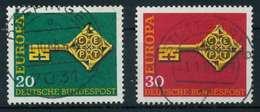 BRD BUND 1968 Nr 559-560 Zentrisch Gestempelt X7F8F8E - [7] República Federal