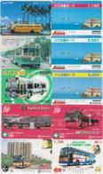 LOT De 50 Cartes Différentes Japon - AUTOBUS AUTOCAR - BUS TRAM - Japan Prepaid Cards - 3385 - Collections