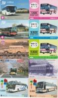 LOT De 50 Cartes Différentes Japon - AUTOBUS AUTOCAR - BUS TRAM - Japan Prepaid Cards - 3386 - Japan