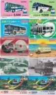 LOT De 50 Cartes Différentes Japon - AUTOBUS AUTOCAR - BUS TRAM - Japan Prepaid Cards - 3387 - Trains
