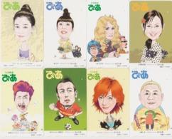 LOT De 8 Cartes Différentes Japon - CINEMA - Caricatures * ONE PUNCH * MOVIE STAR * PIA MAGAZINE * Japan Prepaid Cards - Télécartes