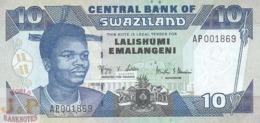 SWAZILAND 10 EMALANGENI 2001 PICK 29 UNC - Swaziland
