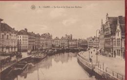 Gent Gand La Lys Et Le Quai Aux Herbes Graslei Peniche Barge Binnenschip (In Zeer Goede Staat) - Gent