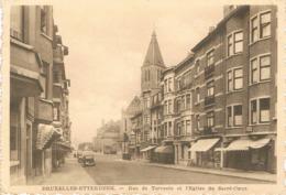 BRUXELLES - ETTERBEEK - Rue De Tervaete Et L'Eglise Du Sacré-Coeur - Commerces - Etterbeek