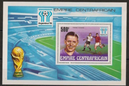 Centrafricaine - 1977 - Bloc Feuillet BF N°Yv. 20 - Football World Cup Argentina 78 - Neuf Luxe ** / MNH / Postfrisch - Zentralafrik. Republik