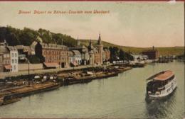 Dinant Depart Du Bateau Touriste Vers Waulsort Peniche Barge Binnenschip - Dinant