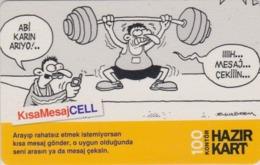 Télécarte Prépayée TURQUIE - Sport - HALTEROPHILIE - WEIGHT LIFTING Prepaid Phonecard Turkey -  91 - Sport