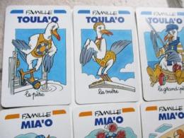JEU DE CARTES 7 SEPT FAMILLES COMPLET GRENOUILLE CHIEN CASTOR HIPPOPOTAME OURS BLANC CHAT MOUETTE PLONGEUR GEMO - Jeux De Société