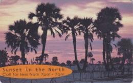 Télécarte à Puce NAMIBIE - Coucher De Soleil Plage Palmiers - Sunset Beach Palm Tree Chip Phonecard Namibia - Namibie