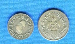 Strasbourg   5  Pf  + 10  Pf - Monétaires / De Nécessité