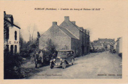 S44-055 Marzan - L'entrée Du Bourg Et Maison LE RAY - Cachet LE REY Sur Le Recto - France
