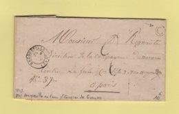 Bacqueville - 74 - Seine Inferieure - 1849 - Boite Rurale C - Courrier De Gueures - 1801-1848: Précurseurs XIX