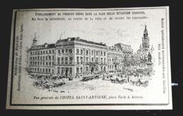 1900 ANVERS HOTEL SAINT ANTOINE PLACE VERTE RENDEZ VOUS DU HIGH LIFE PUBLICITE ANCIENNE BELGIQUE HOTELLERIE - Werbung