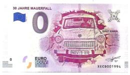 RARE : GERMANY , 0 EURO SOUVENIR -  BERLIN , WALL  CASE  2018.2 - UNC - Andere
