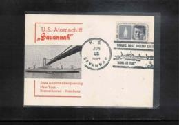USA 1964 US Atom Ship Savannah Interesting Cover - Bateaux