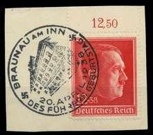 DEUTSCHES REICH 1938 Nr 664 Zentrisch Gestempelt Briefstück X8B0172 - Duitsland