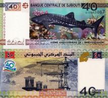 DJIBOUTI 40 Francs, Commemorative Banknote, 2017, P46a, UNC - Djibouti