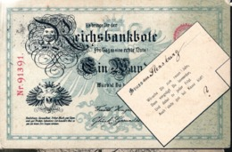 CPA ALLEMAGNE 1903 - REPRESENTATION D'UN BILLET DE BANQUE - - Monedas (representaciones)