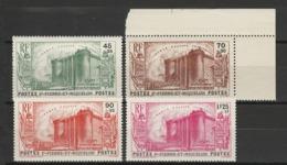 SAINT PIERRE ET MIQUELON 1939 YT N° 191 à 194 ** - St.Pierre & Miquelon