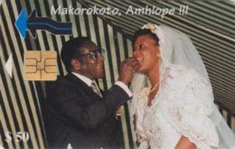 Télécarte à Puce Afrique ZIMBABWE - ZIM 07 - Mariage Du Président Mugabe - Wedding Chip Phonecard - Simbabwe