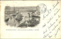 """BREST  -- Port Militaire, Sortie Du Cuirassé """"Le Hoche""""   -- VOYAGEE En 1898                                    -- ND - Brest"""