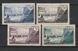 SAINT PIERRE ET MIQUELON 1955-56 YT N° 348 à 351 ** - Unused Stamps