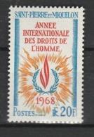 SAINT PIERRE ET MIQUELON 1968 YT N° 384 ** - St.Pedro Y Miquelon