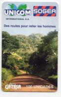 GUINEE EQUATORIALE REF MV CARDS EQG-14 Unicom Sogea - Guinée-Equatoriale