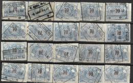 _9Sp-958:restje 20zegels: TR23 ...om Verder Uit Te Zoeken. - Bahnwesen
