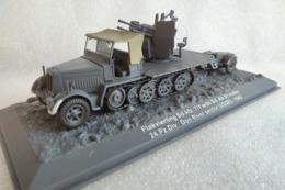 Miniature Militaire 1/72 - Autochenille SdKfz 7/1 Flakvierling + Remorque Sd.Ah.51 - 24e Panzerdivision/URSS 1942 - Chars